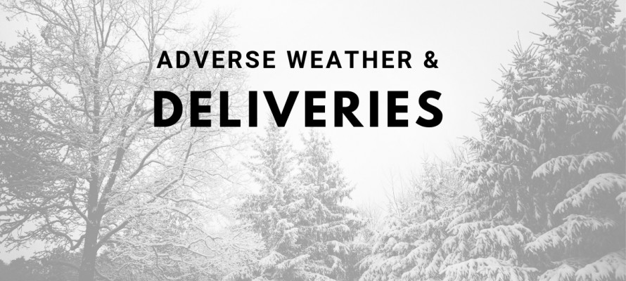 Adverse weather postal delays
