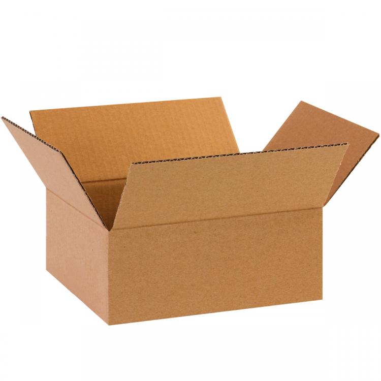 """Single Wall Cardboard Box 10"""" x 8"""" x 4"""" (254 mm x 203 mm x 102 mm)"""