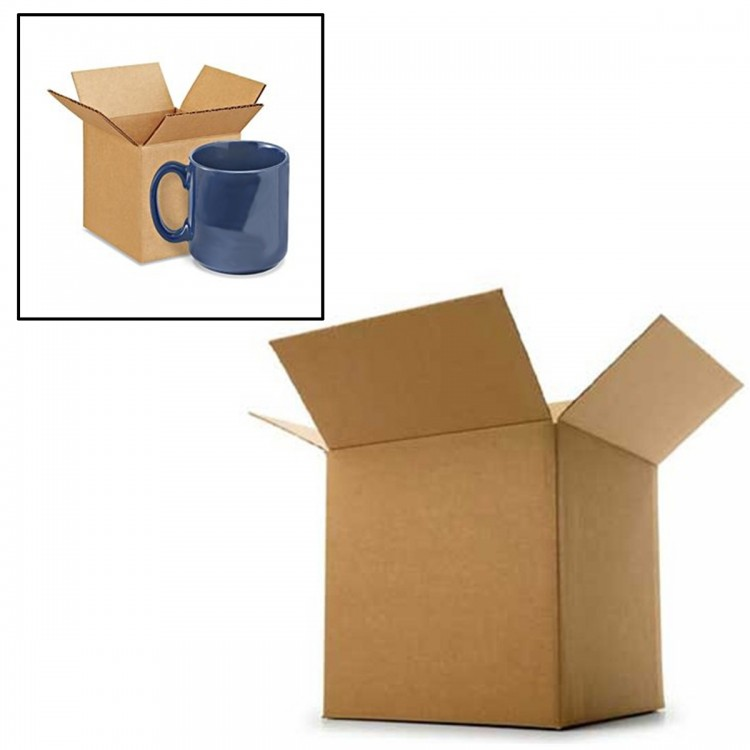 "Single Wall Cardboard Box 4"" x 4"" x 4"" (102mm x 102mm x102mm)"