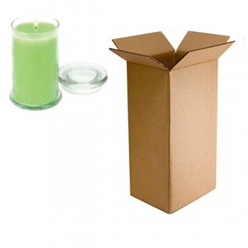 "Double Wall Cardboard Candle Box 135mm x 135mm x 220mm (5x5x9"")"