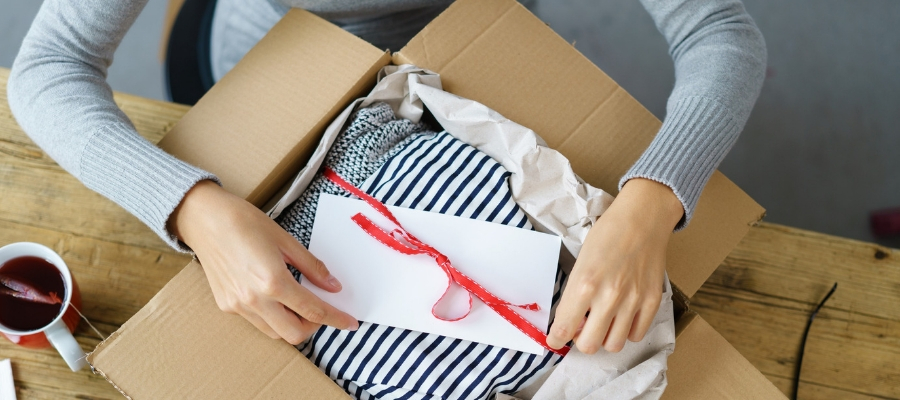 clothing in a box for boxed up packaging