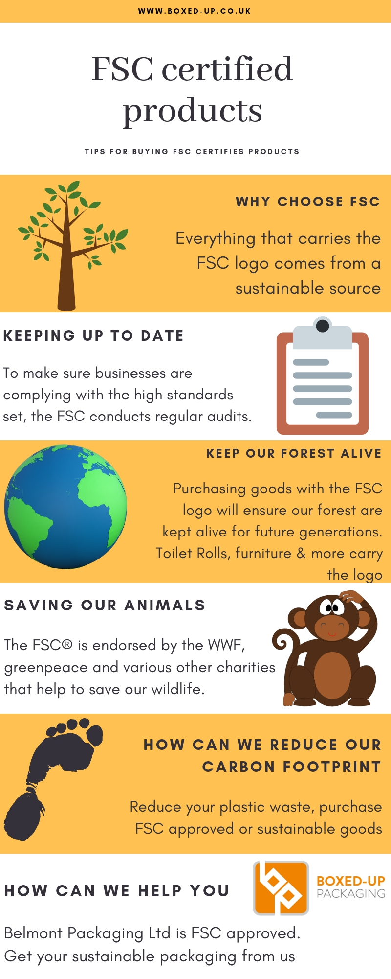 Boxed Up Packaging Ltd FSC Infographic