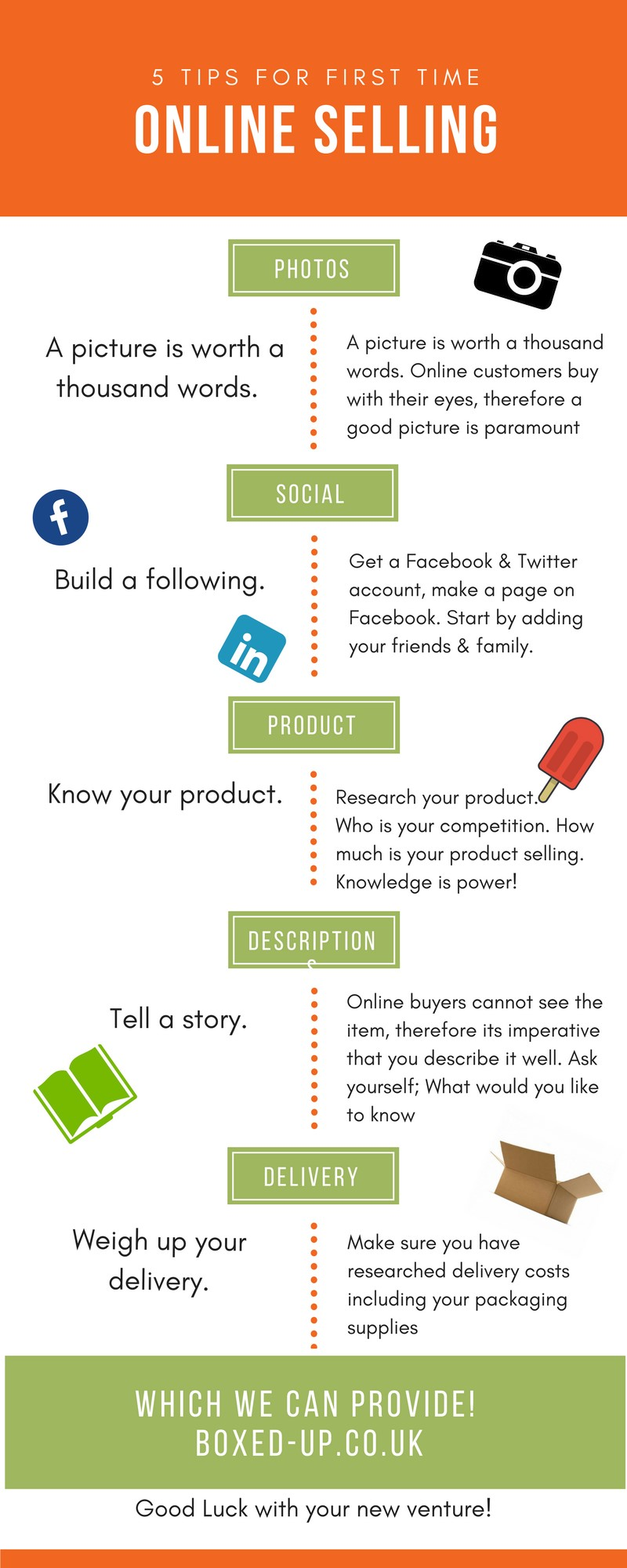 5 tips for first time online sellers